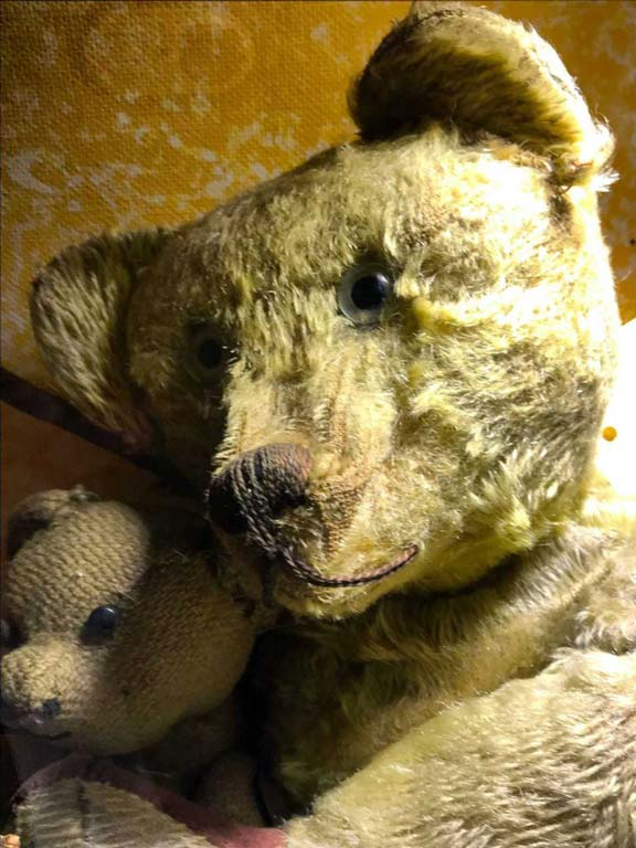 teddy bears at pollocks-toy-museum-london