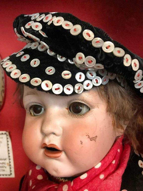 Pearly King doll in Pollock's Toy Museum London