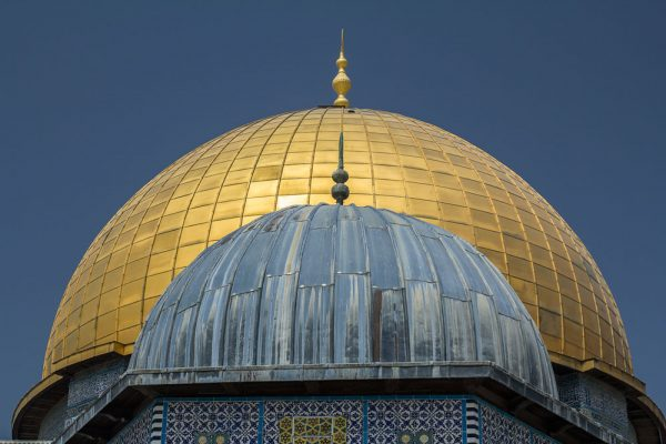 golden dome of dome of the rock in jerusalem
