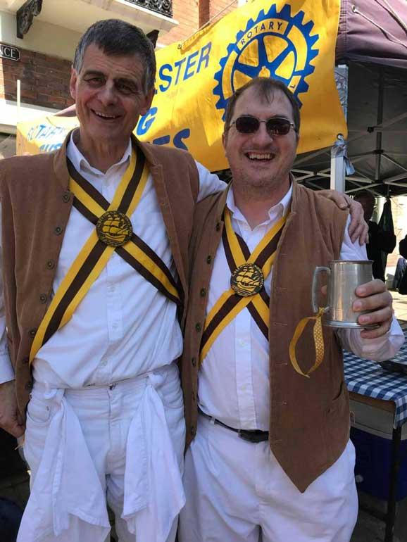 Morris dancers in rochester kent