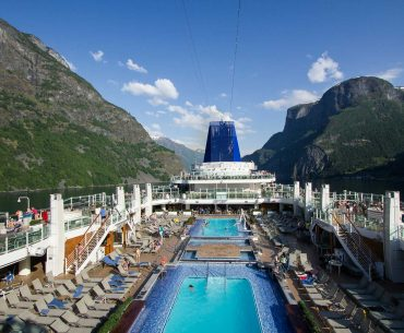 P&O ship Britannia on a Norwegian Fjords Cruise
