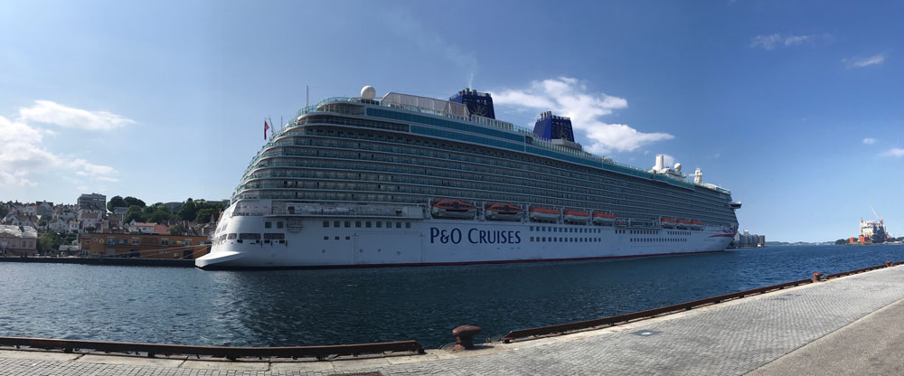 cruise ship p and o britannia berthed in harbour