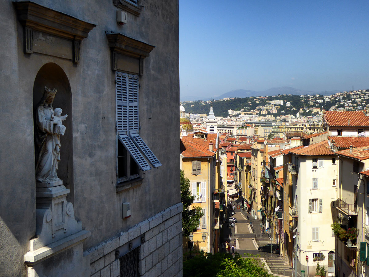 sdie of a church and view from la vielle ville one of the best free things to do in nice