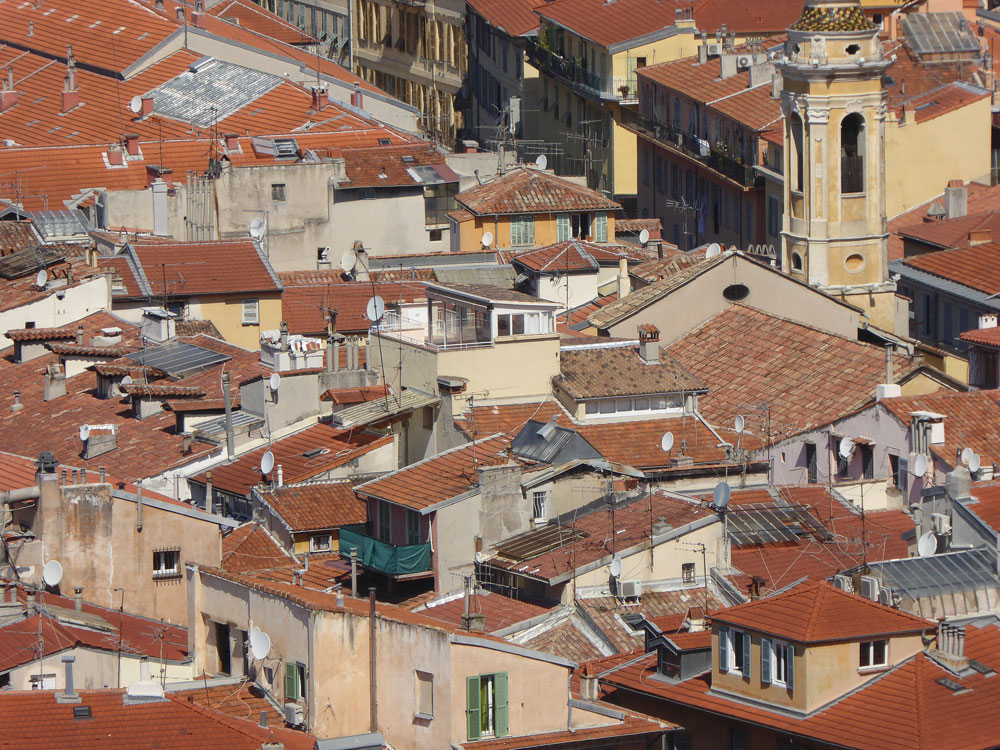 red rooftops of mediterranean city