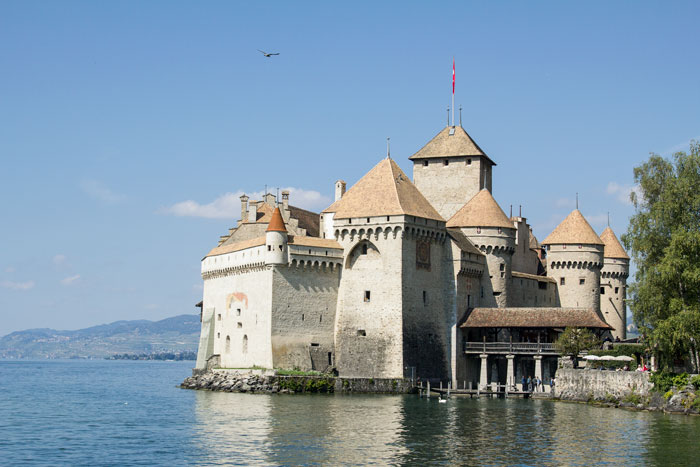 AN OLD CHATEAUX BY THE LAKE