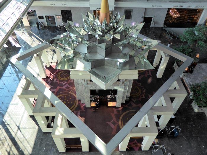 reception area at a Bangkok airport hotel