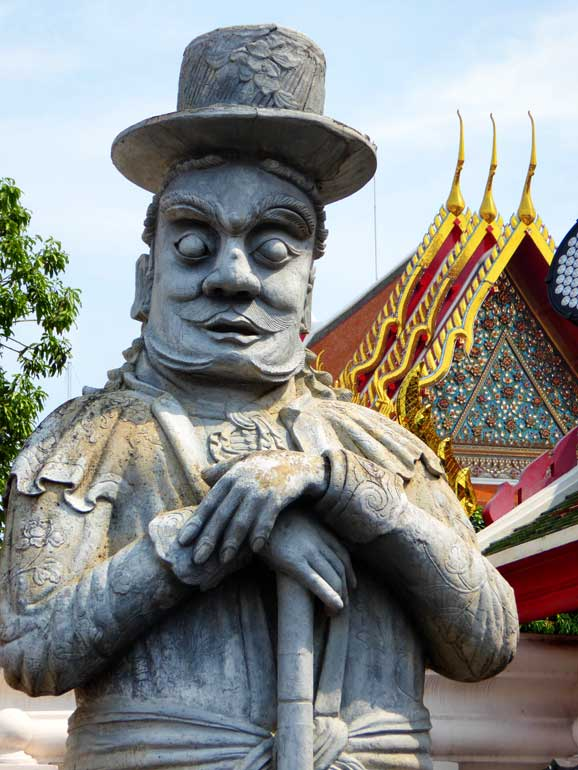 statue of a Stone Giant in Wat Pho bangkok