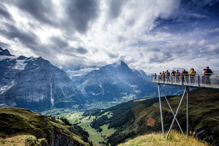 cliff-walk-at-first-bernese-oberland which is one of the best day trips from bern switzerland