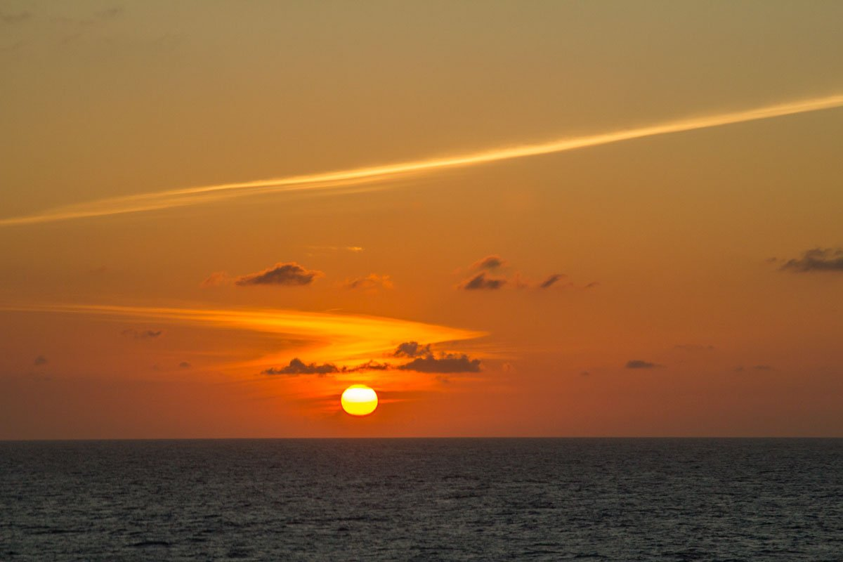 sunset-over-sea-on-a-western-caribbean-cruise