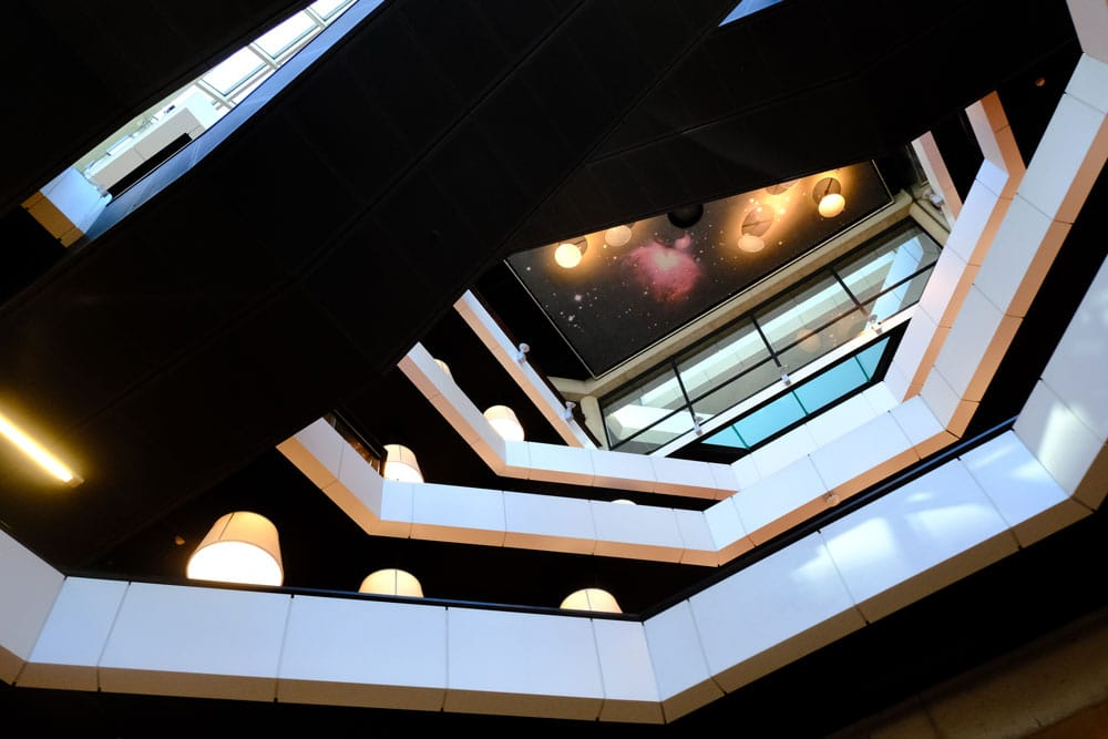 The striking interior of The City Library, Rotterdam
