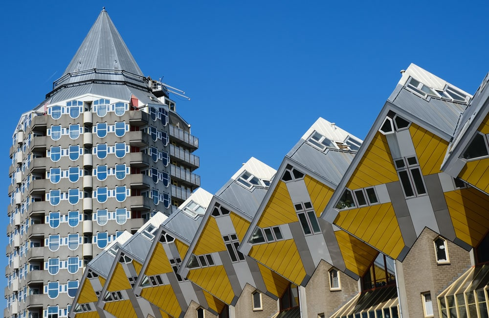 cube-buildings-and-pencil are some of the best things to do in rotterdam in one day