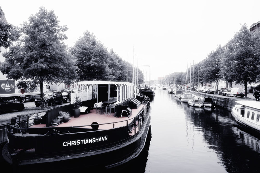 boats parked along canal