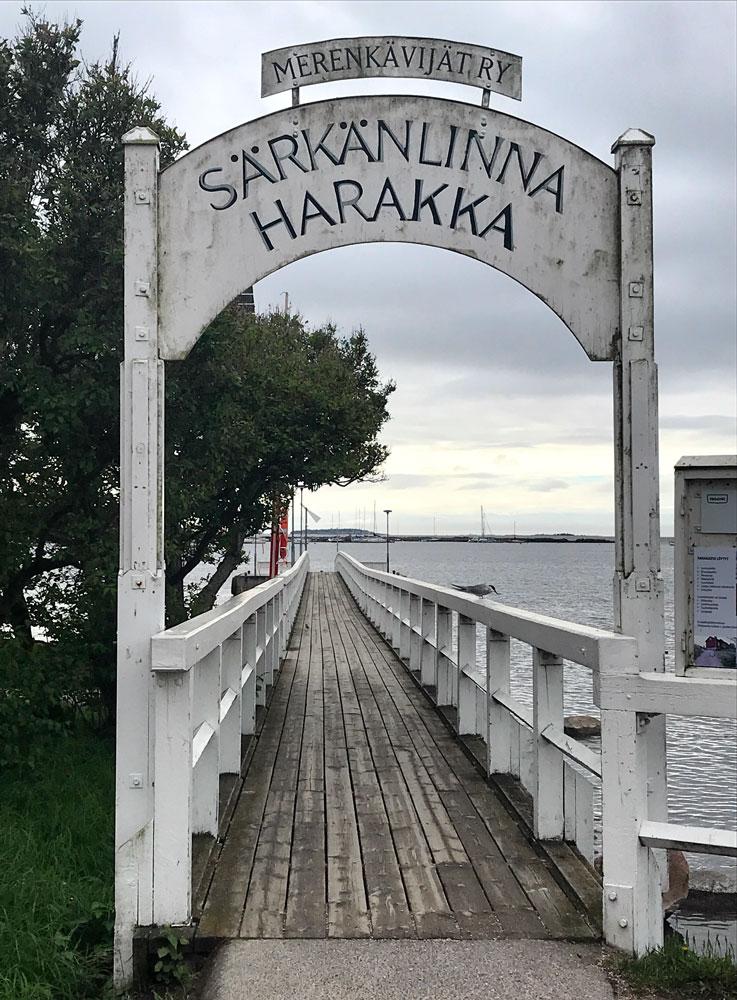 boat jetty along route of helsinki self-guided walking tour