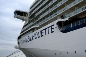 exterior of cruise ship with single cabins