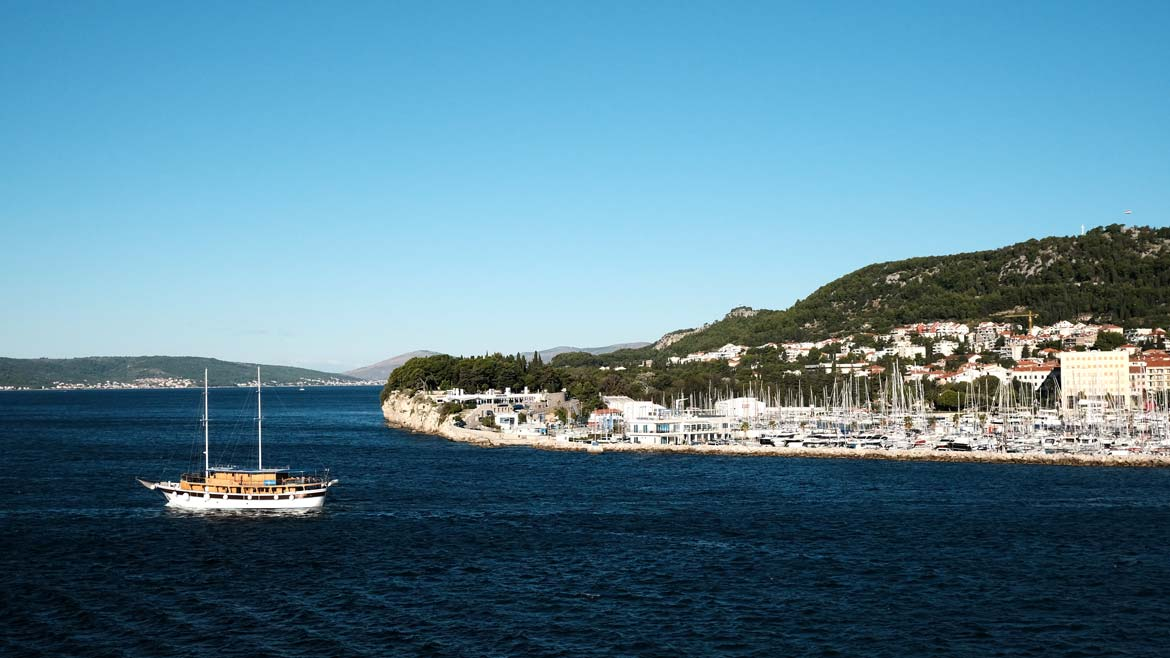 getting off the beaten track in split croatia sailing in the harbour