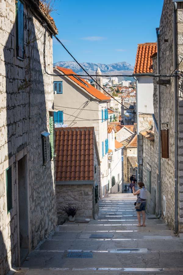 Varos neighbourhood in Split Croatia