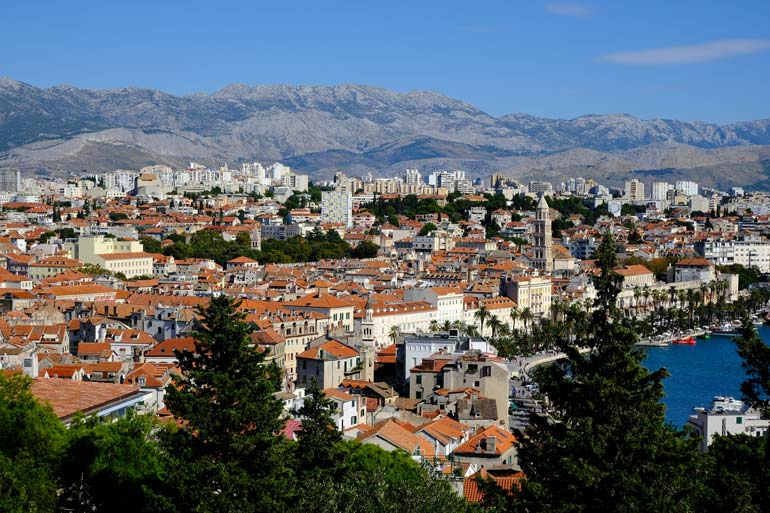 off the beaten track in split with this view of Split from from Marjan Peninsula
