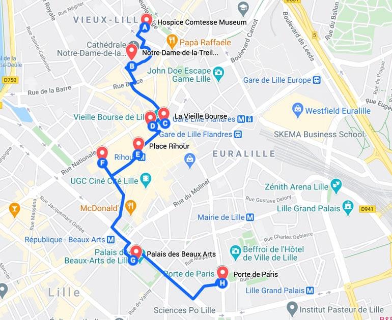 lille-walking-tour-map