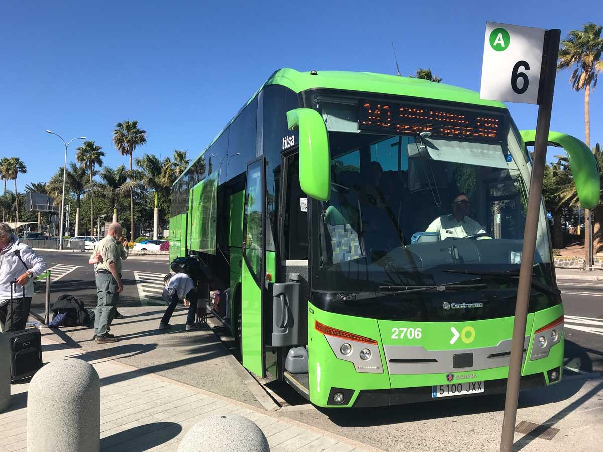 TITSA bus in Tenerife