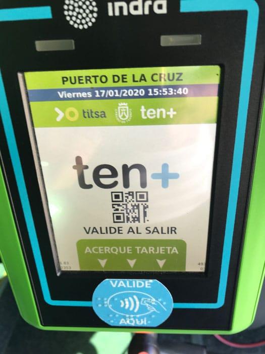 titsa-bus-tenmas-card-reader