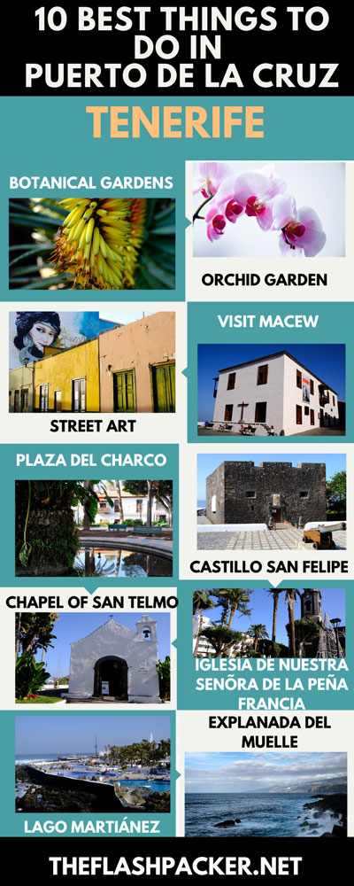 INFOGRAPHIC OF THE BEST THINGS TO DO IN PUERTO DE LA CRUZ TENERIFE