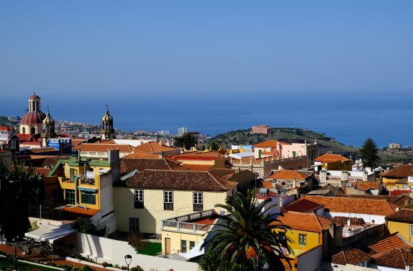 Panoramic view of La Orotava which is one item on a tenerife itinerary