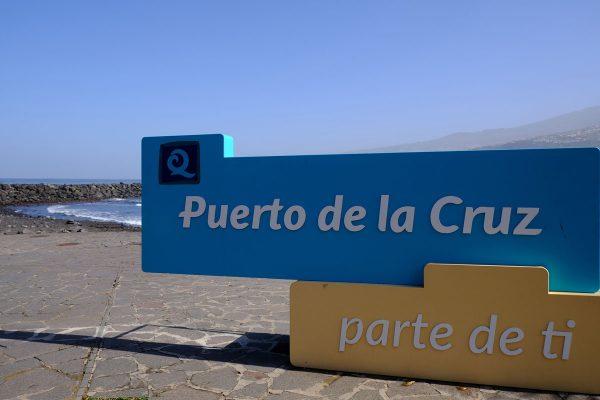 sign for puerto de la cruz tenerife