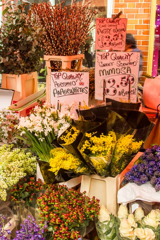 flowers for sale at columbia-rd-market