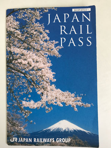 front of japan rail pass