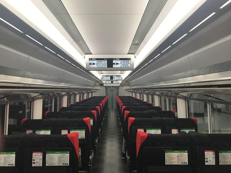 japan-narita-express carriage interior