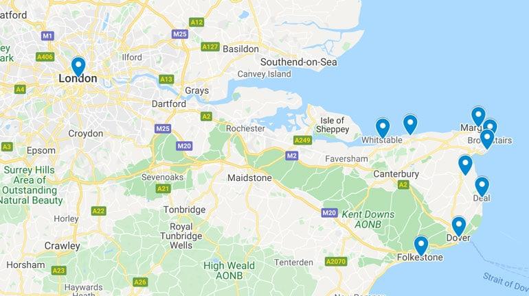 map-of-best-seaside-towns-in-kent-