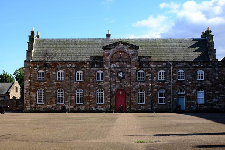 exterior berwick-barracks and courtyard