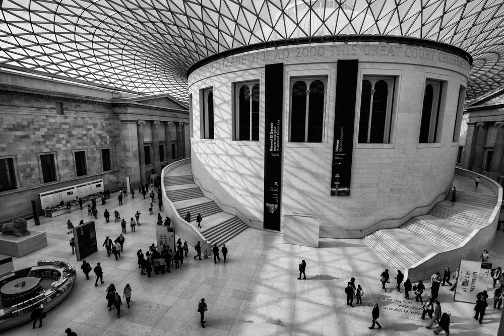people in the great court of the british museum
