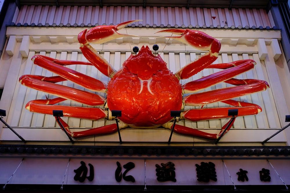 giant crab sign at saka-dotombori-kani-doraku-honten