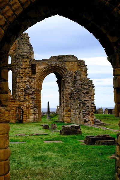 stone arches at tynemouth castle