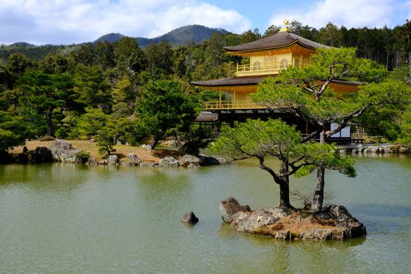 golden temple with reflection in lake and trees which is included in a 3-day kyoto itinerary