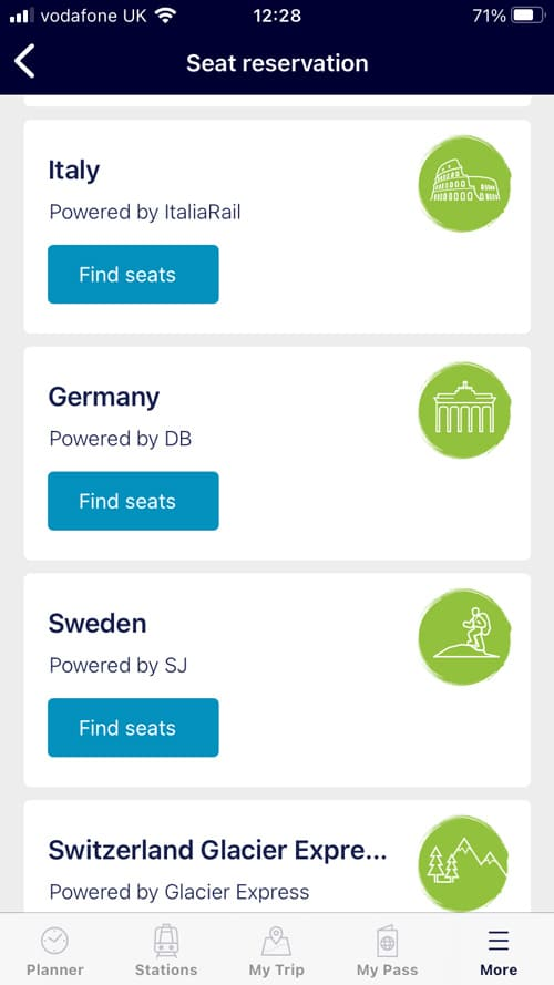 screen-shot-from-rail-planner-app showing options for trains