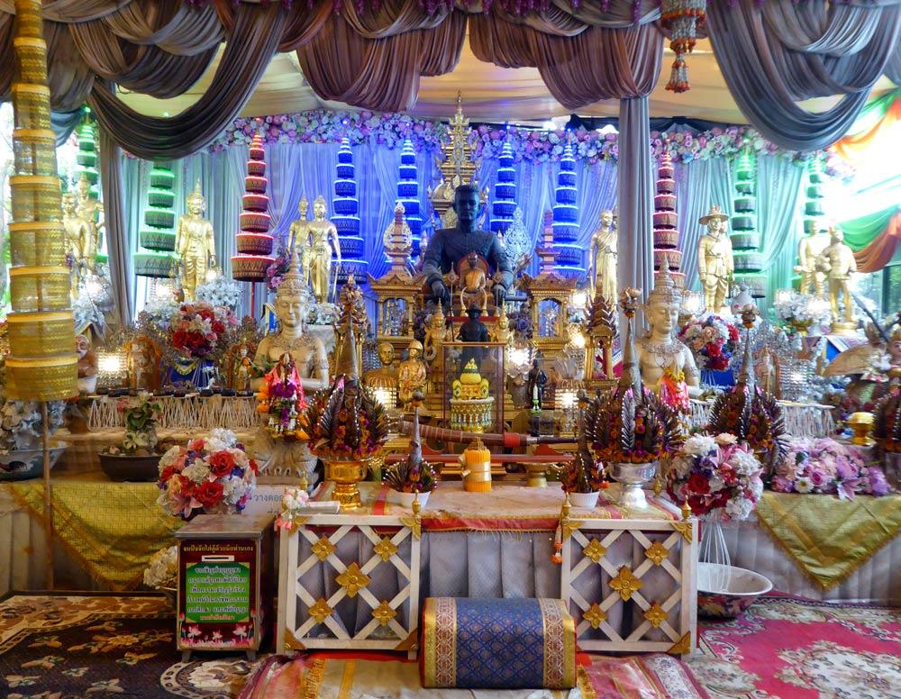 glitzy shrine in temple in ayutthaya