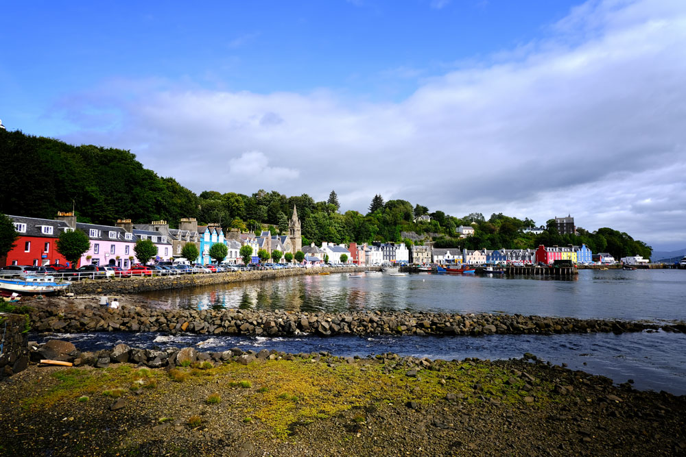 candy coloured houses along seafront in tobermory mull scotland