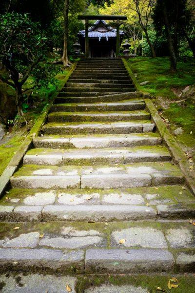 steps leading up to a shrine