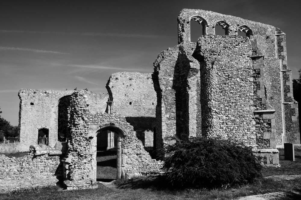 old ruins of church in walberswick suffolk
