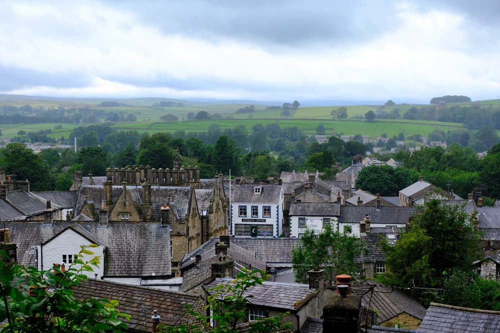 panoramic view of settle yorkshire