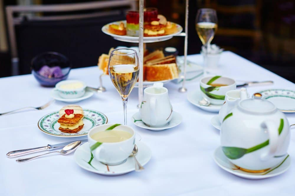 table set for afternoon tea