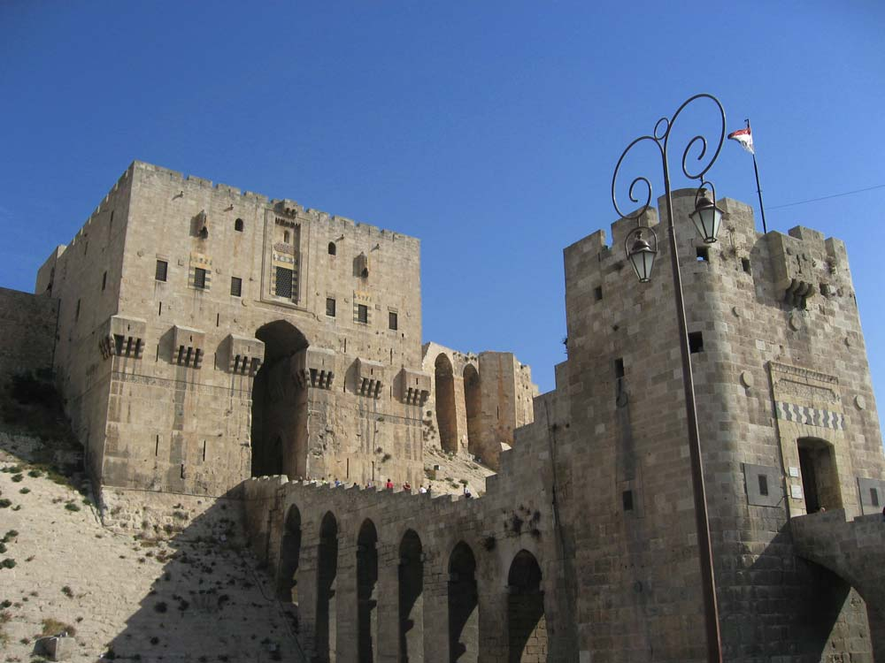 exterior of aleppo citadel in syria before the war