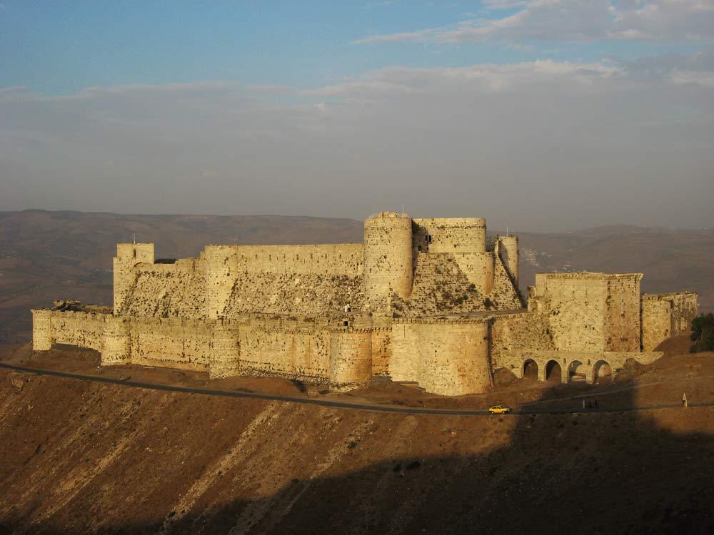 crusader castle on hilltop