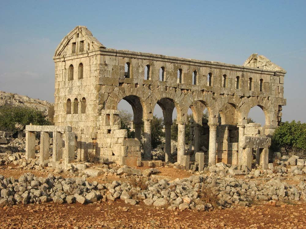 ruins of old church in syria