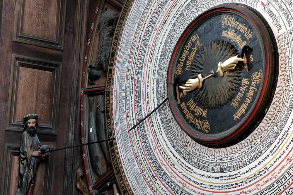 giant astronomical-clock-in rostock germany
