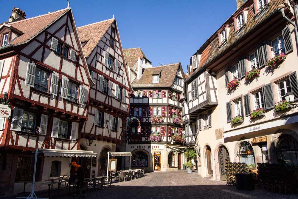 gabled houses in colmar-france