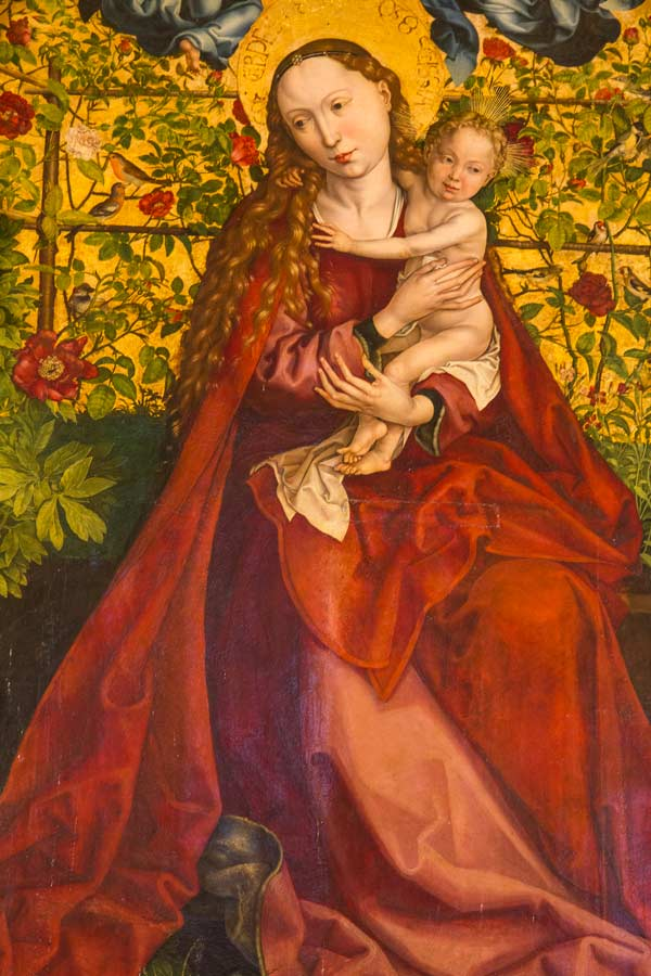 painting of madonna and child