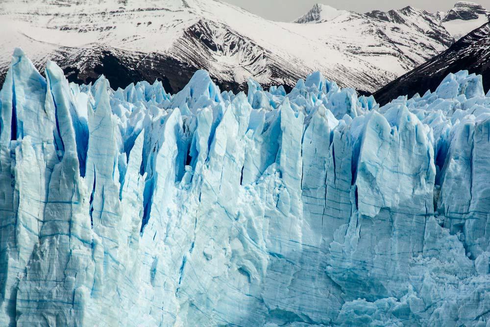 fingers of ice of glacier